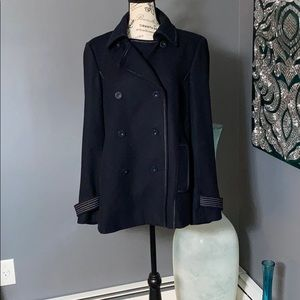 Loft Navy pea coat size XL